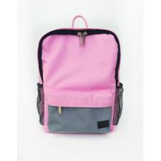 Молодежный рюкзак розовый/серый