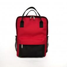 Молодежный рюкзак красный/черный