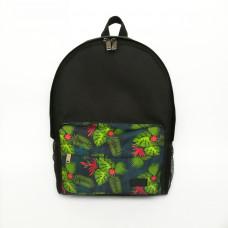 Городской рюкзак черный Тропики