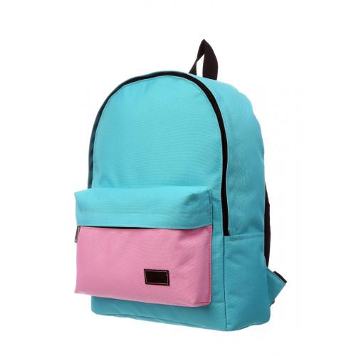 Городской рюкзак бирюзовый/розовый