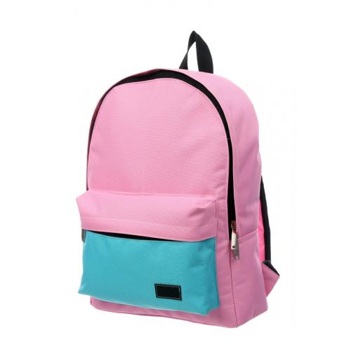 Городской рюкзак розовый/бирюзовый