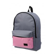 Городской рюкзак серый/розовый