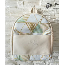Рюкзак экокожа кремовый Геометрия mini