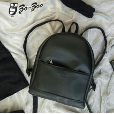 Рюкзак экокожа черный  maxi