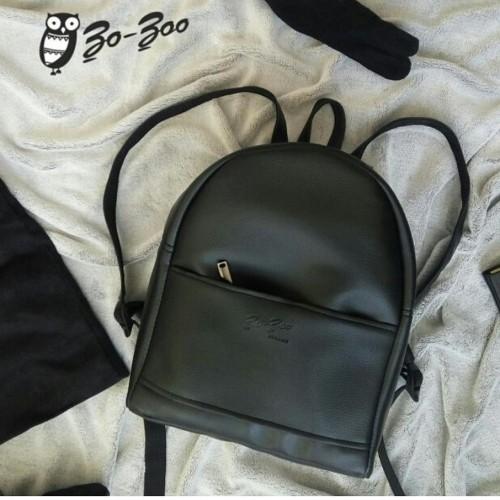 Рюкзак экокожа черный midi