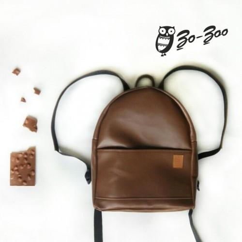 Рюкзак экокожа коричневый midi