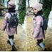 Рюкзак экокожа серый Цветы mini