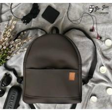 Рюкзак экокожа серый maxi