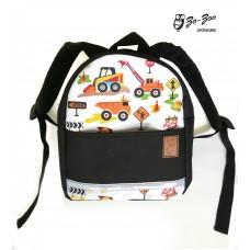 Детский рюкзак непромокаемый Экскаватор черный