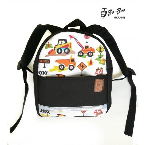 Детский рюкзак непромокаемый Экскаватор черный ... c58e98a62d70e