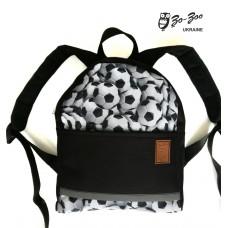 Детский рюкзак непромокаемый Мячи черный