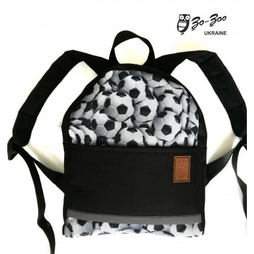 Детский рюкзак непромокаемый Мячи черный c5f3fc2eab30d