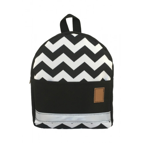 Детский рюкзак непромокаемый Зигзаг черный