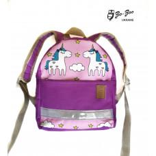 Детский рюкзак непромокаемый Единороги фиолетовый