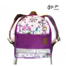 Детский рюкзак непромокаемый Принцессы фиолетовый