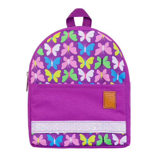 Детский рюкзак непромокаемый Бабочки фиолетовый
