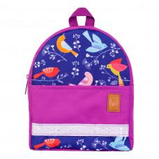 Детский рюкзак непромокаемый Птицы фиолетовый