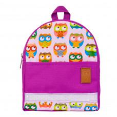 Детский рюкзак непромокаемый Совы фиолетовый