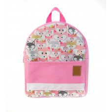 Детский рюкзак непромокаемый Лисы розовый