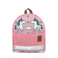 Детский рюкзак непромокаемый Единороги розовый