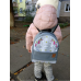 Детский рюкзак непромокаемый Единороги серый