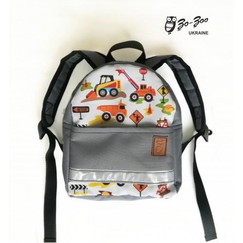 Детский рюкзак непромокаемый Экскаватор серый ... 8866b48aafbec