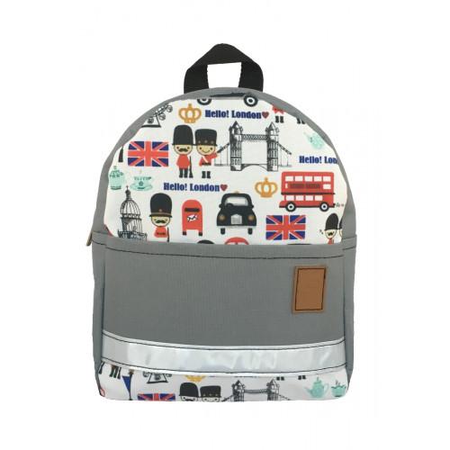 Детский рюкзак непромокаемый Лондон серый