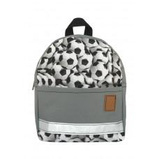 Детский рюкзак непромокаемый Мячи серый