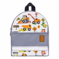 Детский рюкзак непромокаемый Экскаватор серый