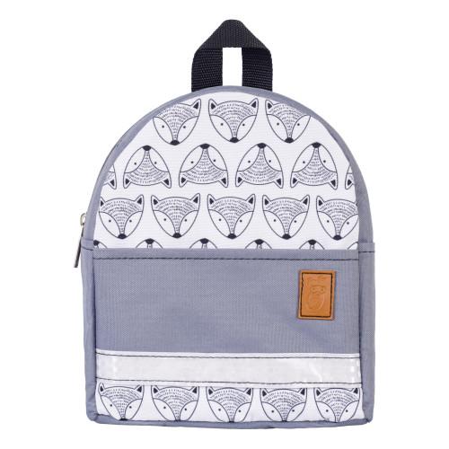 Детский рюкзак непромокаемый Лисы серый