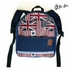 Детский рюкзак непромокаемый Флаги синий