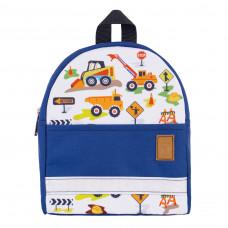 Детский рюкзак непромокаемый Экскаватор синий