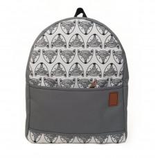 Рюкзак непромокаемый средний Лисы серый