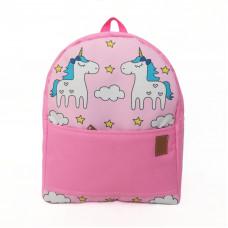 Рюкзак непромокаемый средний Единороги розовый
