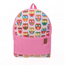 Рюкзак непромокаемый средний Совы розовый
