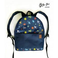 Рюкзак непромокаемый средний Космос синий