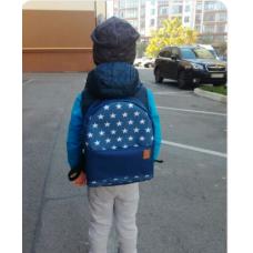 Рюкзак непромокаемый средний Звезды синий
