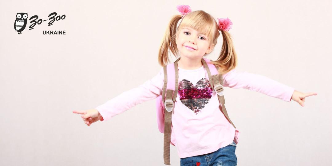 Детский рюкзак непромокаемый для девочки
